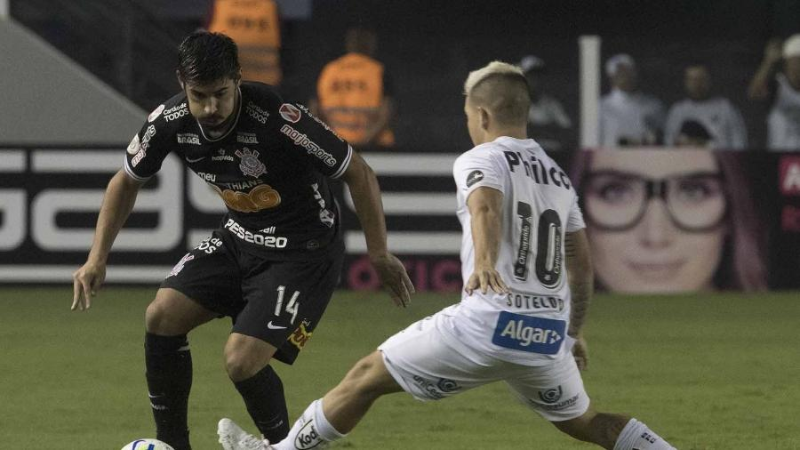 A última vez do Corinthians na Vila Belmiro foi em 2019 com derrota para o Santos  - Daniel Augusto Jr./ Ag. Corinthians