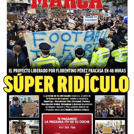 Capa do jornal Marca - Reprodução/Twitter