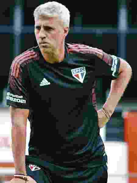 Hernán Crespo, técnico do São Paulo, durante treino no CT da Barra Funda - Fellipe Lucena/saopaulofc - Fellipe Lucena/saopaulofc