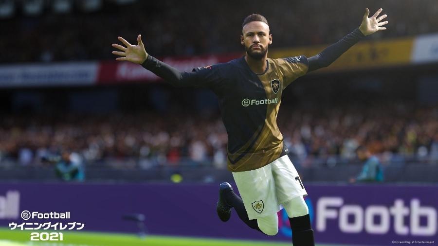 Neymar é embaixador do PES 2022, jogo da Konami que será disponibilizado de forma gratuita - Divulgação