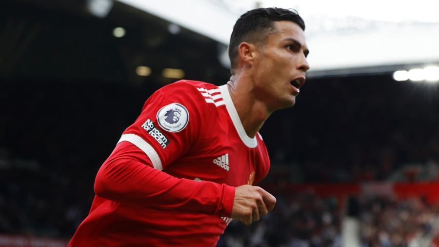 Cristiano Ronaldo comemora gol marcado pelo Manchester United diante do Newcastle - Phil Noble/Reuters