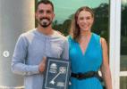 Bruno Fratus recebe chave da cidade nos EUA em homenagem ao bronze olímpico
