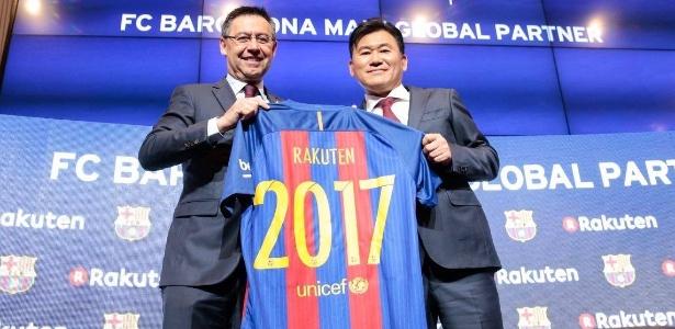 Barcelona fechou contrato com a Rakuten por 4 anos