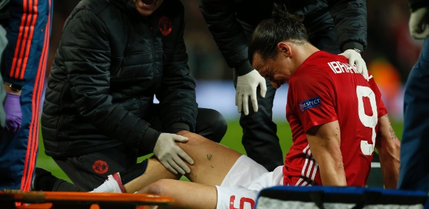 Ibrahimovic se lesionou na partida entre Manchester United e Anderlecht