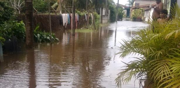 Cidade de Marechal Deodoro, em Alagoas, alagada por conta das enchentes