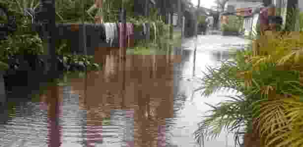 Cidade de Marechal Deodoro, em Alagoas, alagada por conta das enchentes - Arquivo pessoal