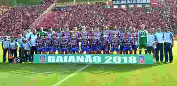 Bahia ficou com o título estadual de 2018 após triunfo no Barradão - Romildo de Jesus/Futura Press/Estadão Conteúdo