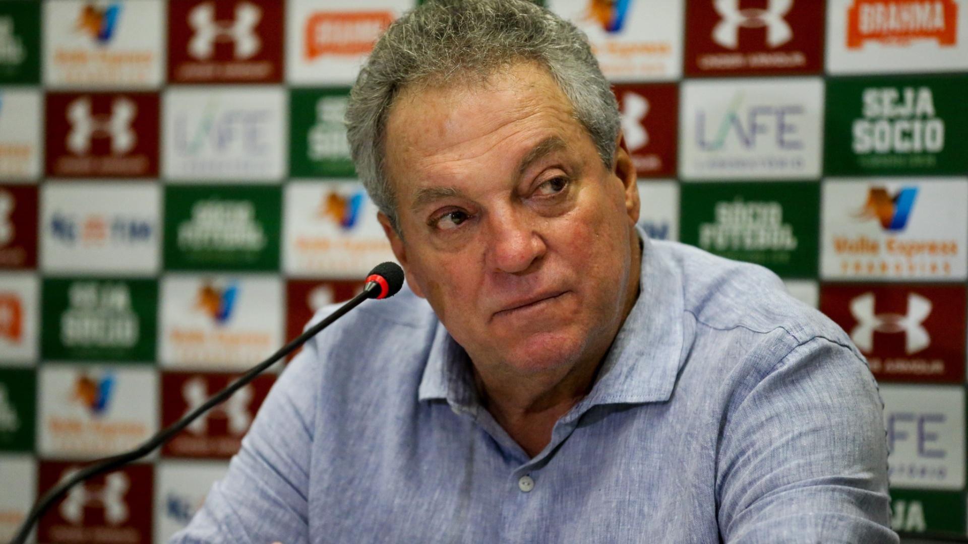 Abel Braga, durante coletiva após Fluminense 1 x 0 Cruzeiro