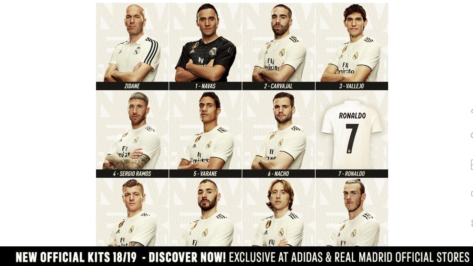 Site Real Madrid Cristiano Ronaldo