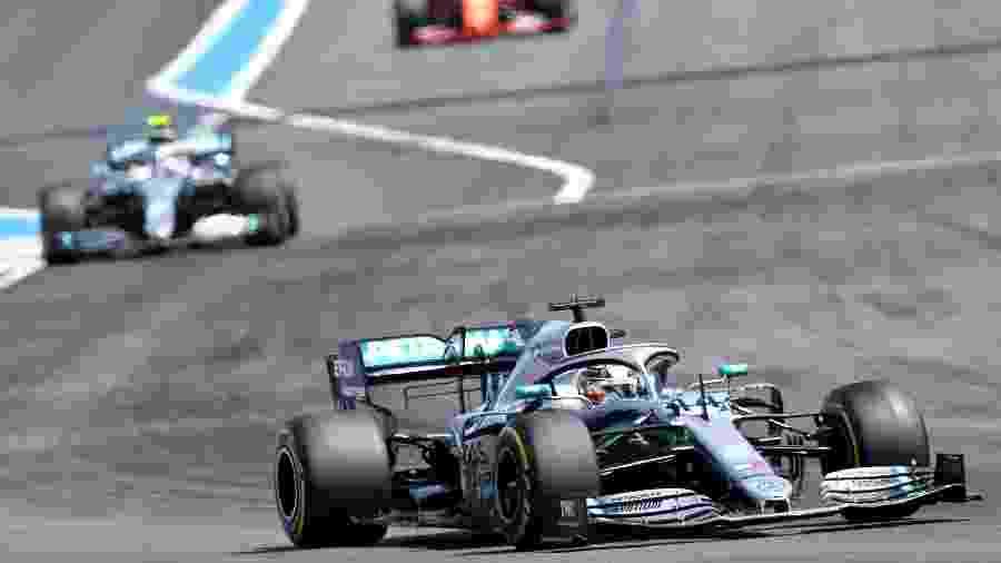Lewis Hamilton, durante o GP da França - GERARD JULIEN / AFP