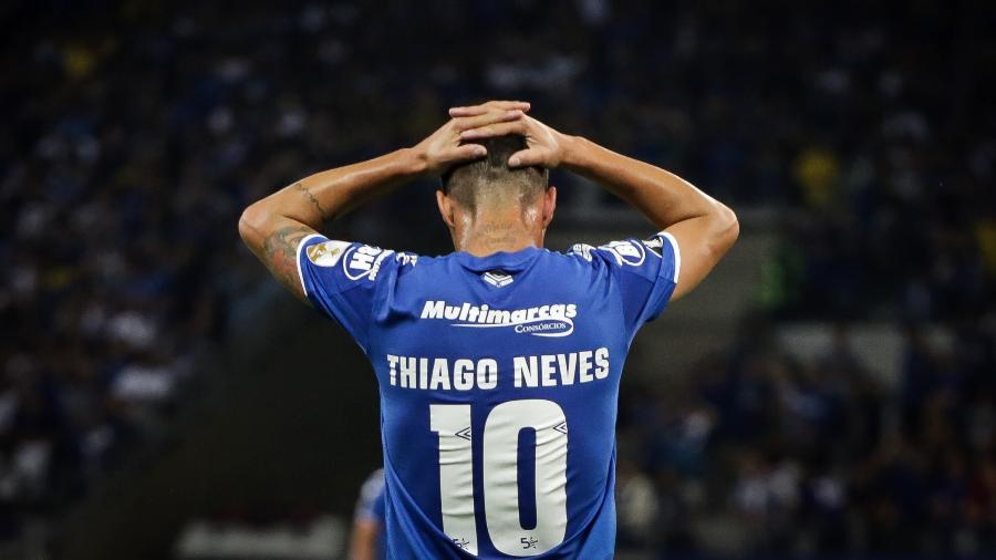"""Thiago Neves, jogador do Cruzeiro, foi considerado um dos """"responsáveis"""" pelo rebaixamento do Cruzeiro em 2019 - Thomas Santos/AGIF"""