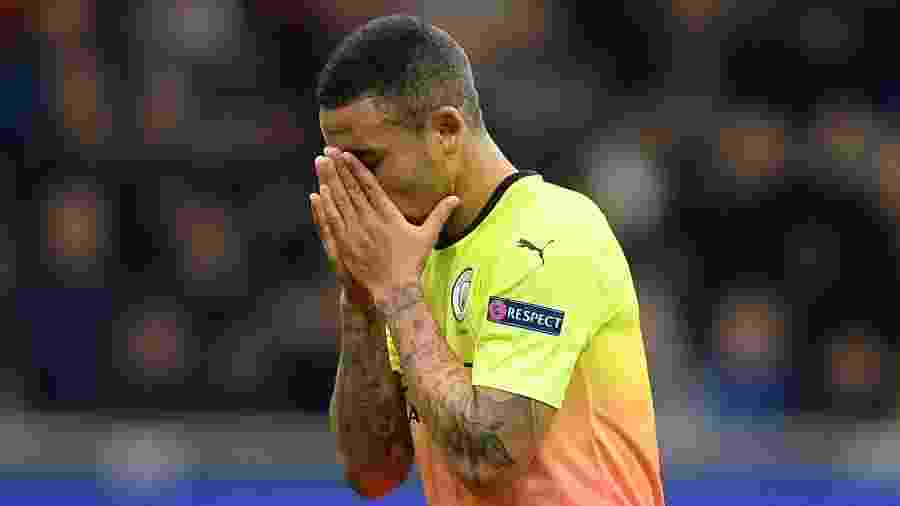 Gabriel Jesus lamenta perda de pênalti para o Manchester City - REUTERS/Daniele Mascolo
