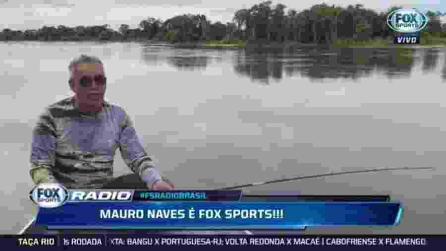 Mauro Naves durante o Fox Sports Rádio - Reprodução/Fox Sports