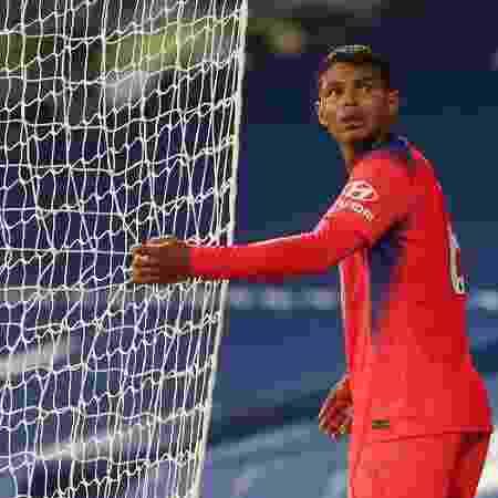 Thiago Silva, durante partida entre Chelsea e West Brom - Ivill / POOL / AFP