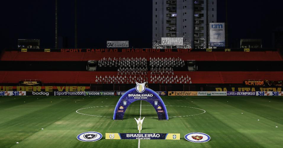 Ilha do Retiro, antes da partida entre Sport e Botafogo
