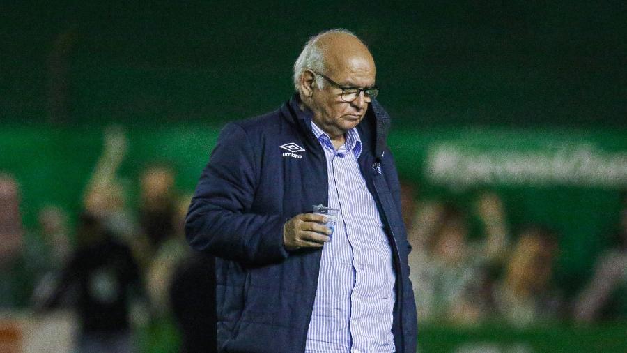 Romildo Bolzan Jr., presidente do Grêmio, presente em partida da Copa do Brasil contra o Juventude - Fernando Alves/AGIF