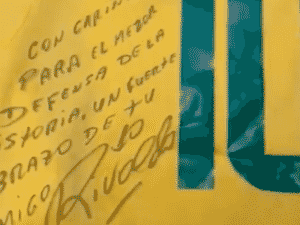 Sergio Ramos mostra autógrafo de Rivaldo - Instagram - Instagram