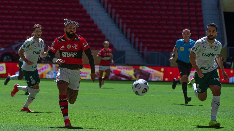 Lance do jogo entre Flamengo e Palmeiras, válido pela Supercopa do Brasil - Alexandre Vidal / Flamengo