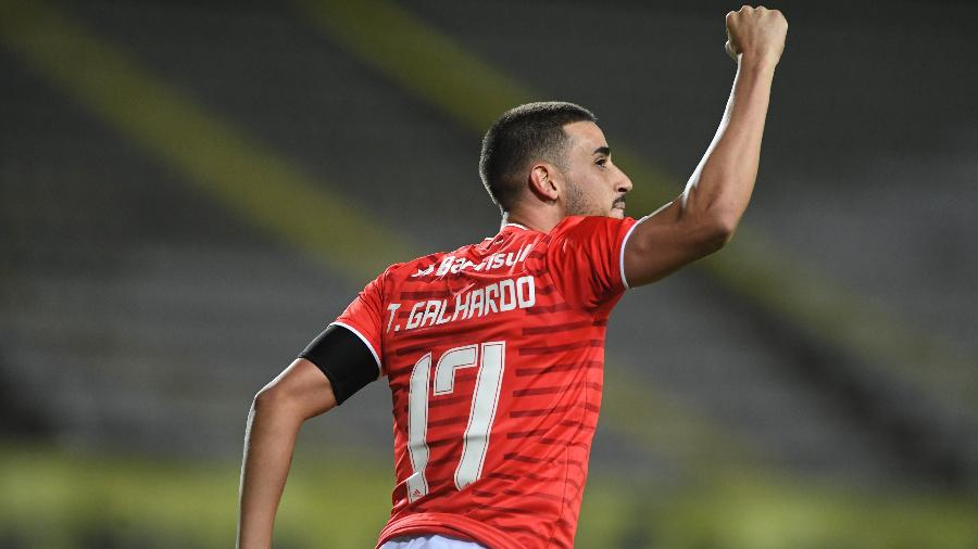 Thiago Galhardo comemora gol do Internacional contra o Deportivo Táchira na Libertadores - Ricardo Duarte/Internacional