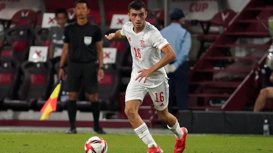 Pedri, da Espanha, é o jogador mais valioso do futebol de Tóquio-2020 - Etsuo Hara/Getty Images