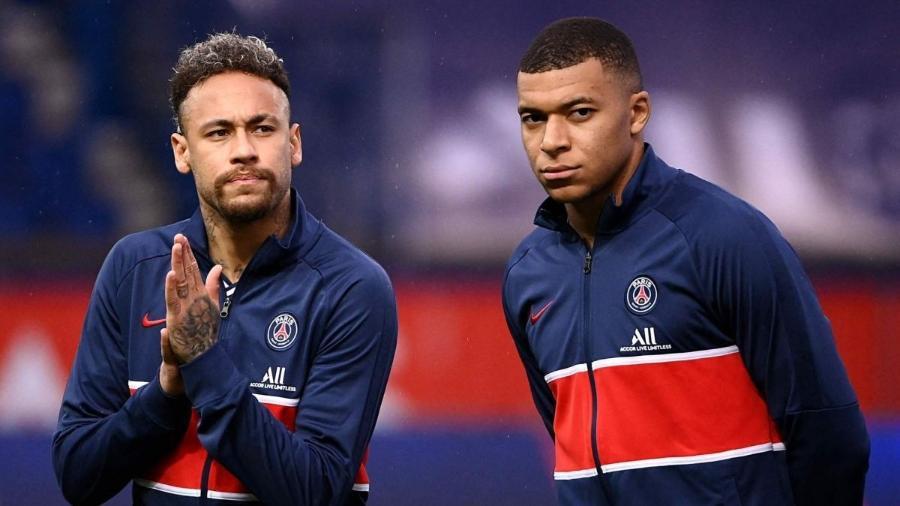 Neymar e Mbappé são os protagonistas do novo conflito de vestiário do PSG - AFP