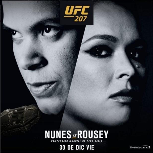 Pôster da luta entre Ronda Rousey e Amanda Nunes