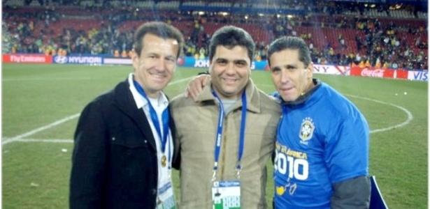 Marcelo Cabo (centro) foi encontrado na noite da última segunda, em um motel