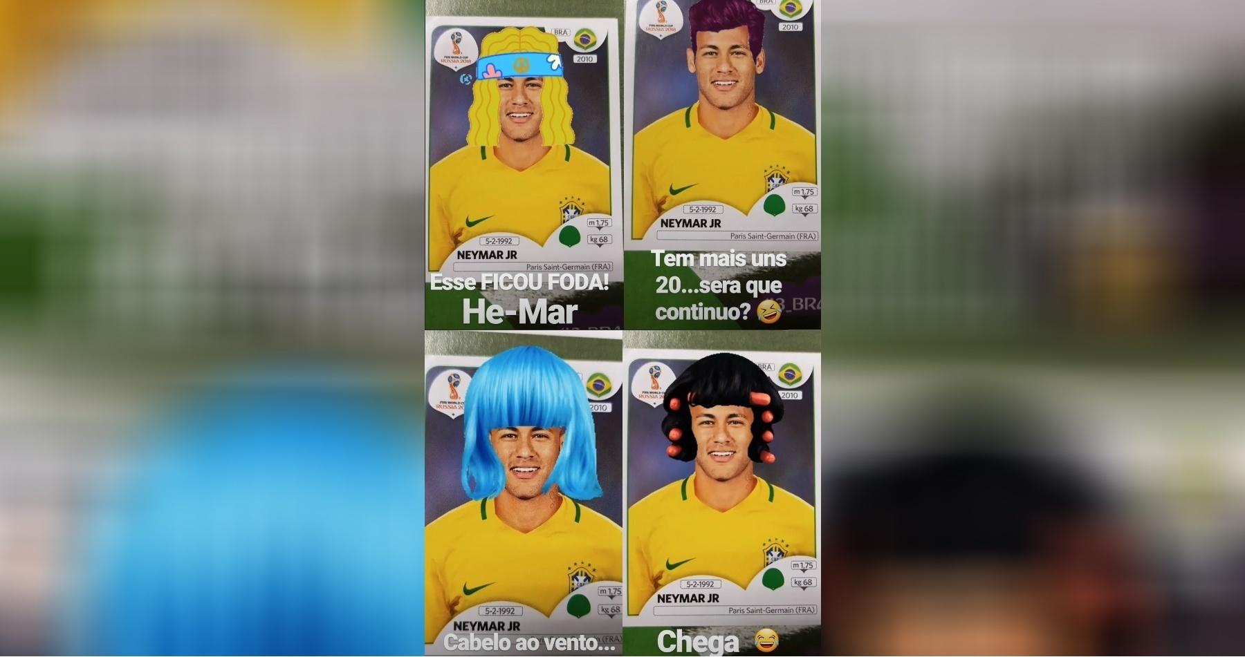 Andreoli brincou com visual de Neymar no Instagram