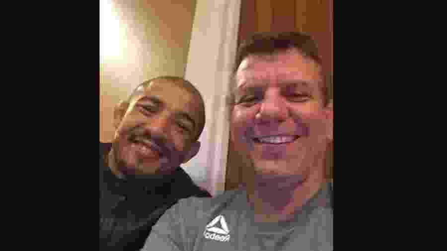 Lutador José Aldo e técnico Dedé Pederneiras - Reprodução/Instagram