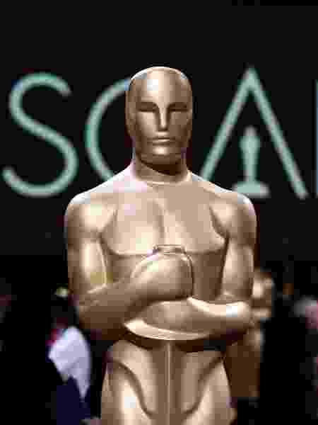 Estátua imitando estatueta do Oscar - Robyn Beck/AFP - Robyn Beck/AFP