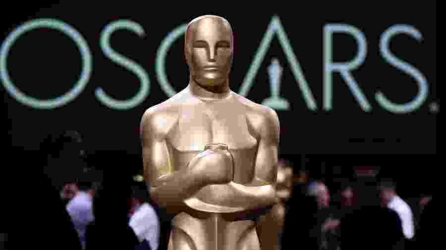 Estátua imitando estatueta do Oscar - Robyn Beck/AFP