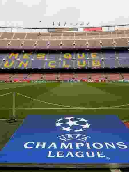 Camp Nou em dia de jogo do Barcelona na Liga dos Campeões - Susana Vera/Reuters - Susana Vera/Reuters