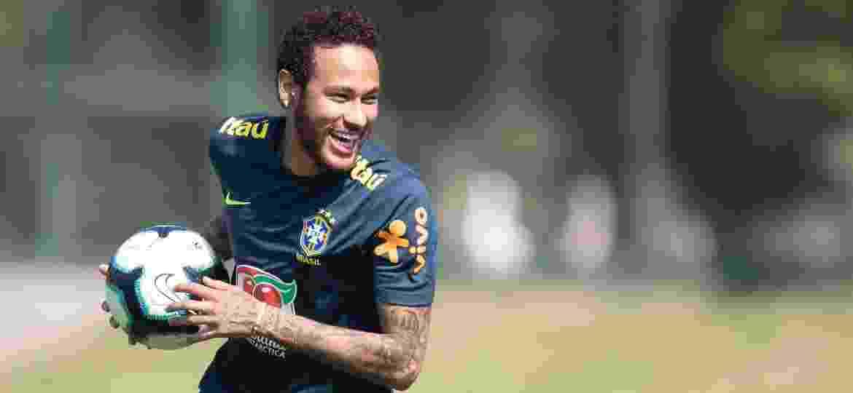 Neymar em treino da seleção brasileira - Lucas Figueiredo/CBF