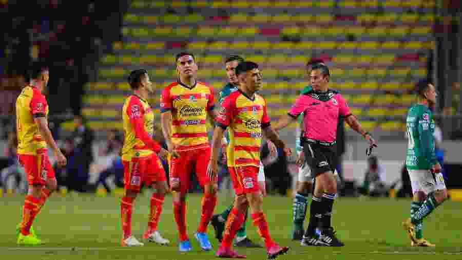 28.nov.2019 - Jogo do Campeonato Mexicano entre Monarcas Morelia e León - Jaime Lopez/Jam Media/Getty Images