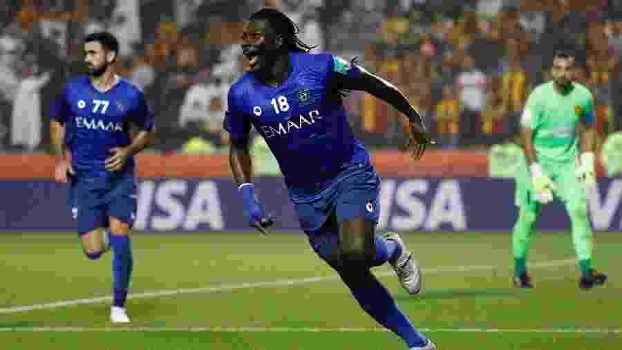 Gomis comemora gol do Al Hilal sobre o Espérance pelo Mundial  - REUTERS/Kai Pfaffenbach