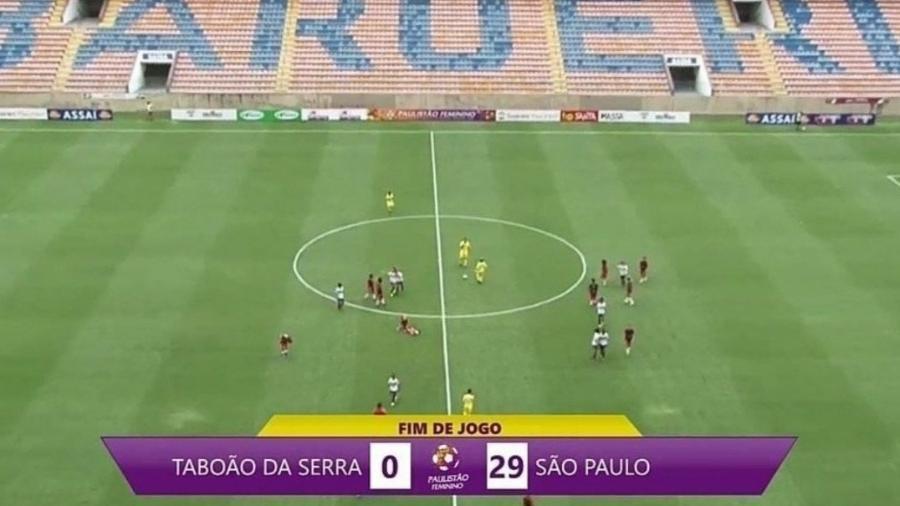 São Paulo goleia Taboão da Serra no Campeonato Paulista feminino - Reprodução/Facebook