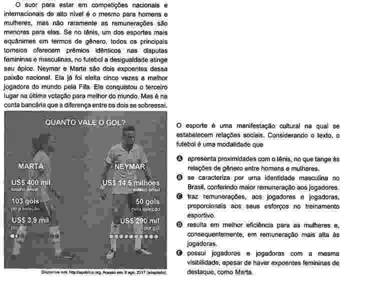 Enem Neymar e Marta - Reprodução - Reprodução