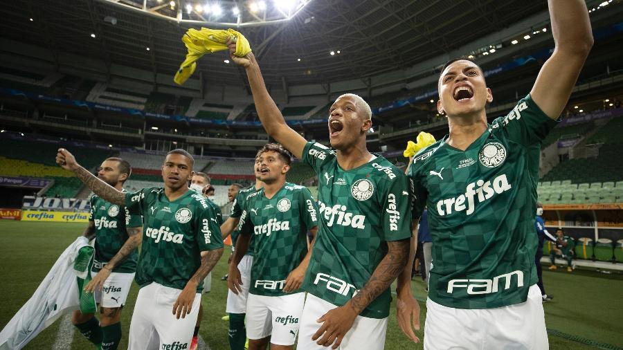 Jogadores do Palmeiras comemoram o título da Copa do Brasil - Lucas Figueiredo/CBF