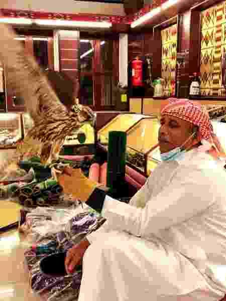 Falcão à venda no Mercado dos Falcões de Doha, ao lado do Souq Waqif - Tiago Leme - Tiago Leme