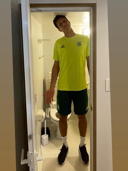 Marcelo Melo no banheiro dos Jogos Olímpicos de Tóquio 2020 - Reprodução/Instagram