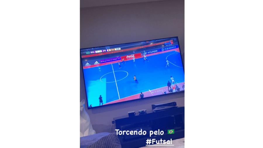 Neymar acompanha oitavas de final do futsal entre Brasil e Japão - Instagram