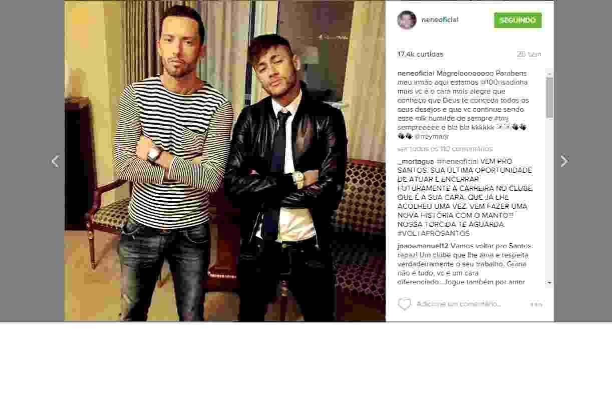 Nenê e Neymar: amigos de pôquer e da vida - Divulgação / Instagram
