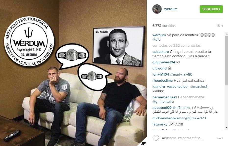 Fabricio Werdum posta montagem ironizando seus possíveis rivais para disputa do cinturão do UFC