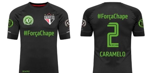 Camisa do São Paulo em tributo à Chapecoense
