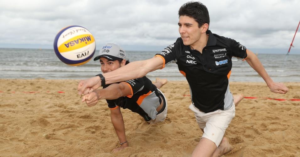 Carlos Sainz e Esteban Ocon participam de evento antes do GP da Austrália