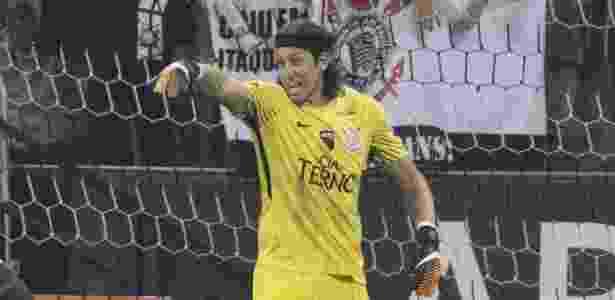 Cássio, goleiro do Corinthians, durante partida contra o Coritiba - Daniel Augusto Jr/Agência Corinthians - Daniel Augusto Jr/Agência Corinthians