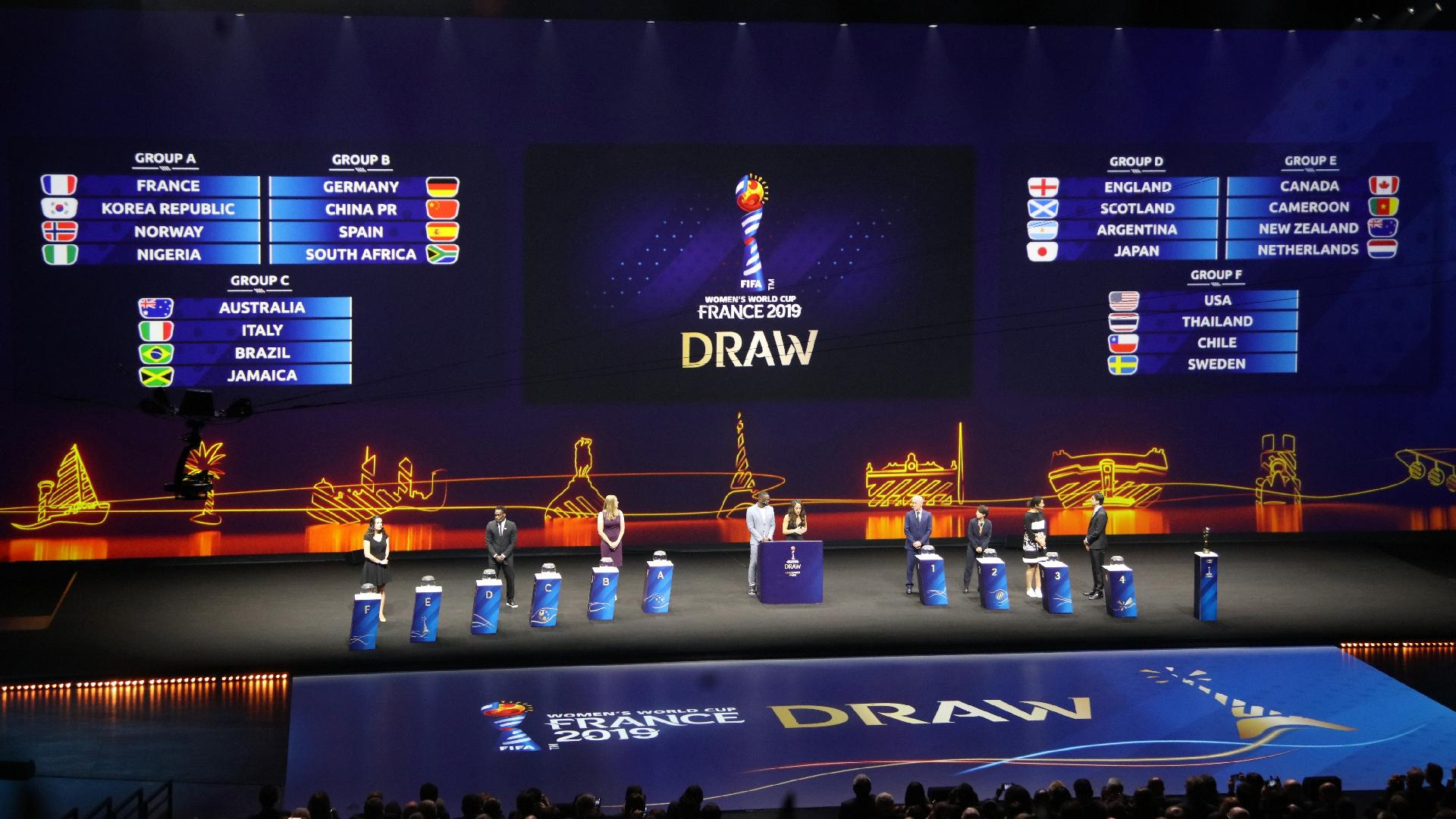 Brasil sorteio dos grupos Copa do Mundo Feminina