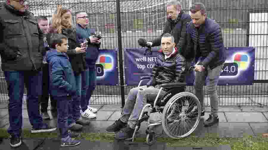 Fernando Ricksen tornou público o diagnóstico de ELA em 2013; desde então, passou a ter problemas para andar, falar e respirar - VI Images via Getty Images