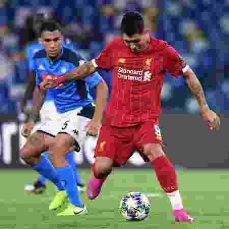 Liverpool e Napoli jogaram no estádio San Paolo, na Itália, pela Liga dos Campeões - Alberto PIZZOLI / AFP