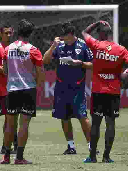 Treino do São Paulo - Fernando Diniz (c), técnico do São Paulo - Marcello Zambrana/AGIF